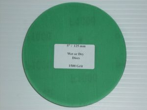 Wet or Dry Abrasive Disc 5 Inch 1500 Grit