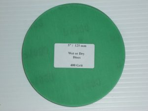 Wet or Dry Abrasive Disc 5 Inch 400 Grit
