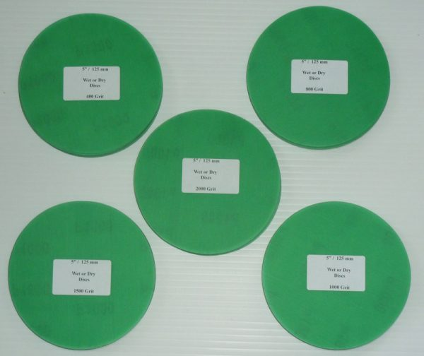 Wet or Dry Abrasive Discs 5 Inch Mixed